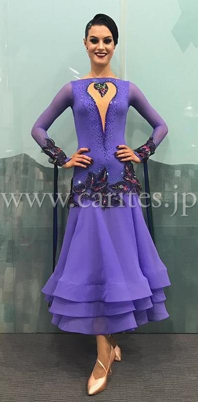 EM193・【アレキサンドラ着用】紫【LILAC HEART】
