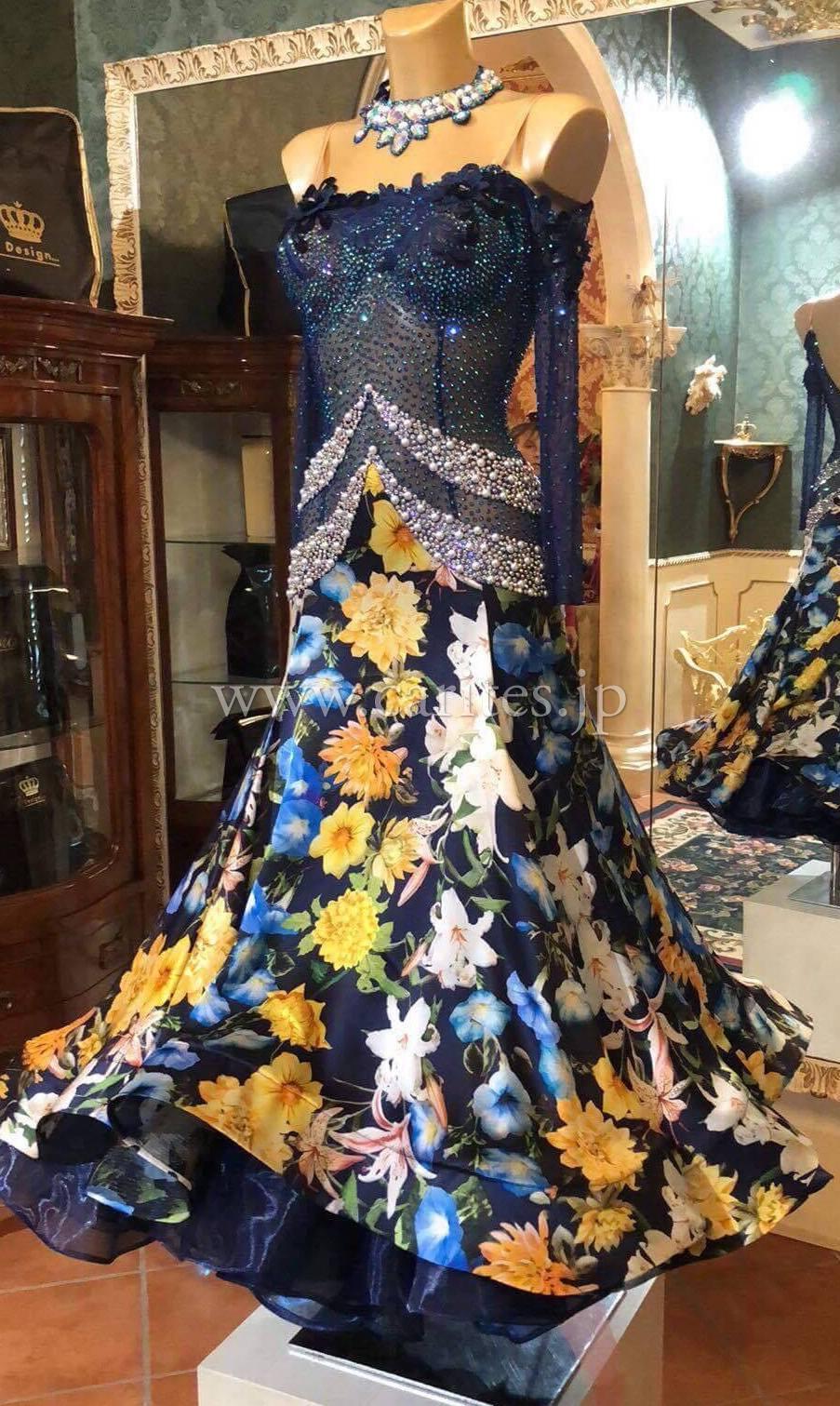 SD136・【新品】ネイビー&花柄【Dolce&Gabbana】
