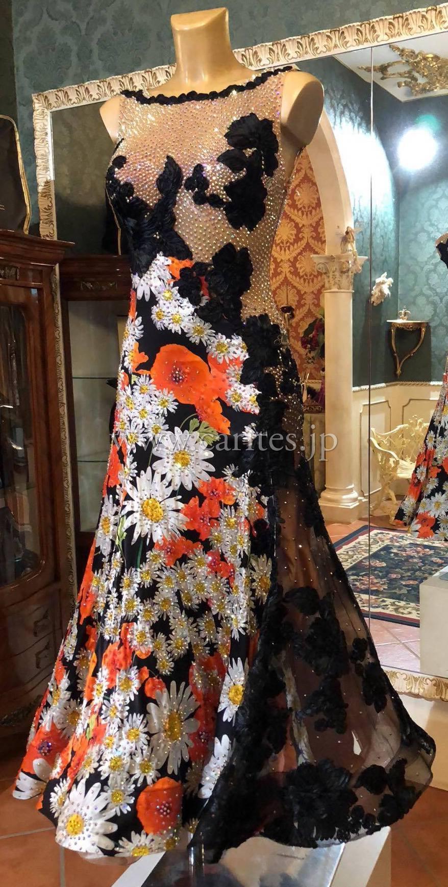 SD137・【新品】オレンジ黒&花柄【Dolce&Gabbana】