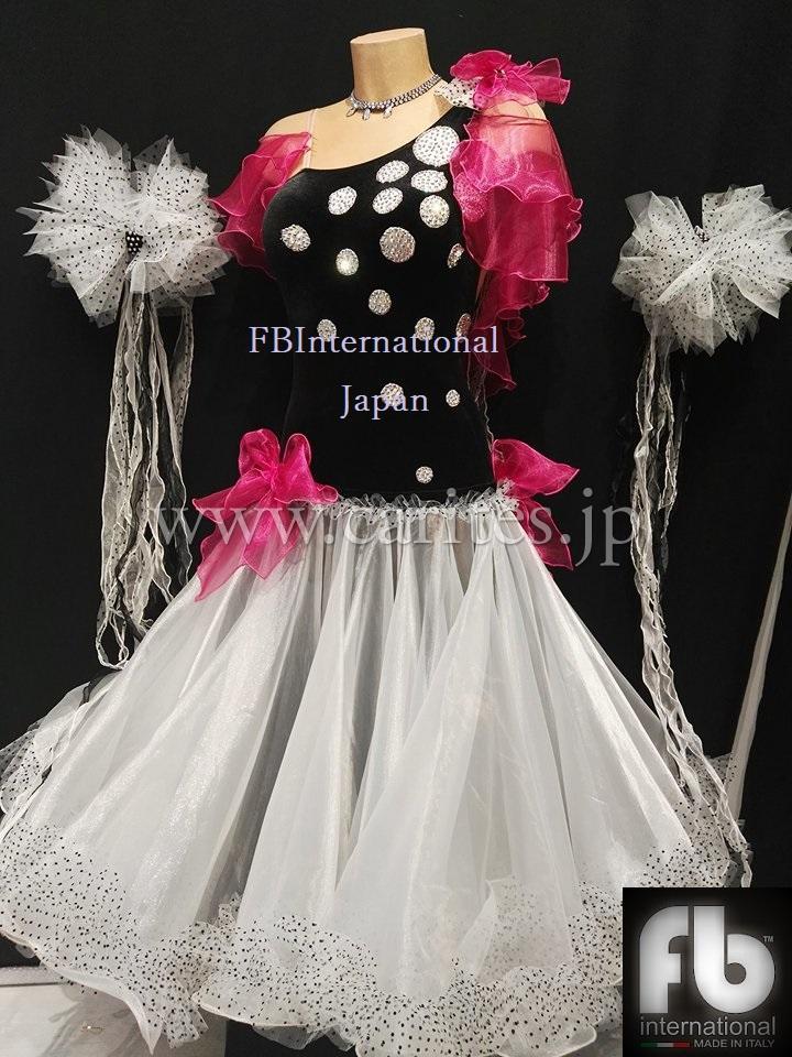 FB039・黒白ドット&ピンク
