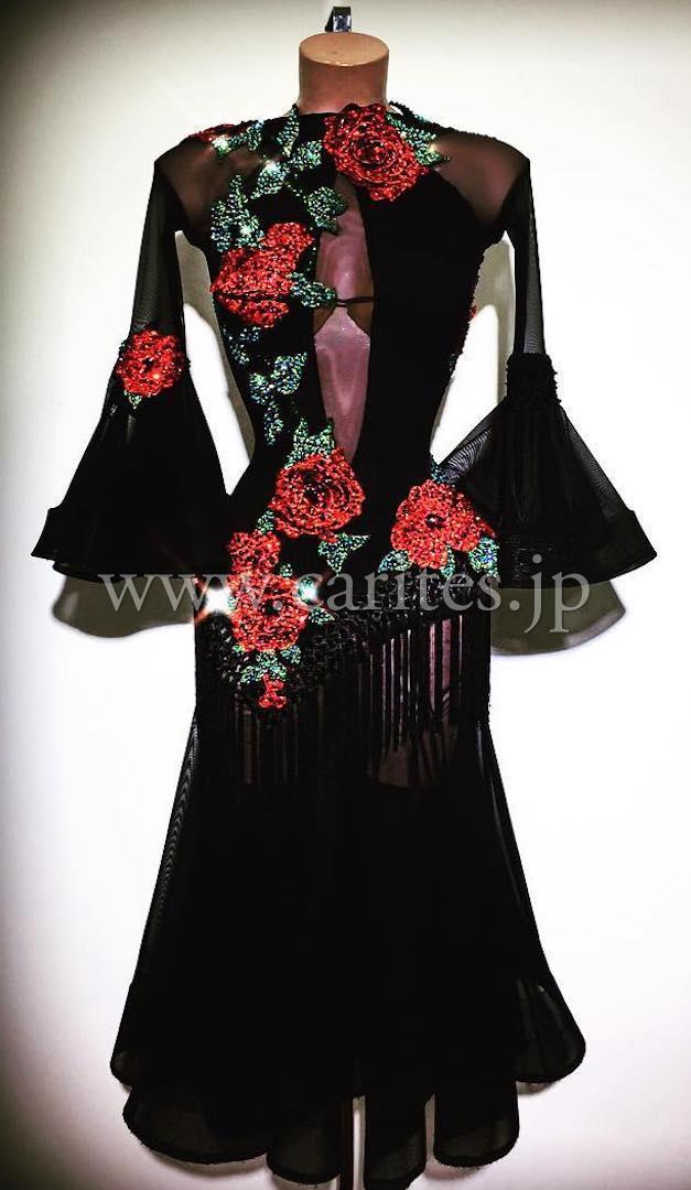 AM118・黒&バラ