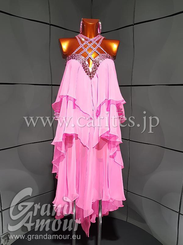 GAL192・【新品】ピンクルンバドレス