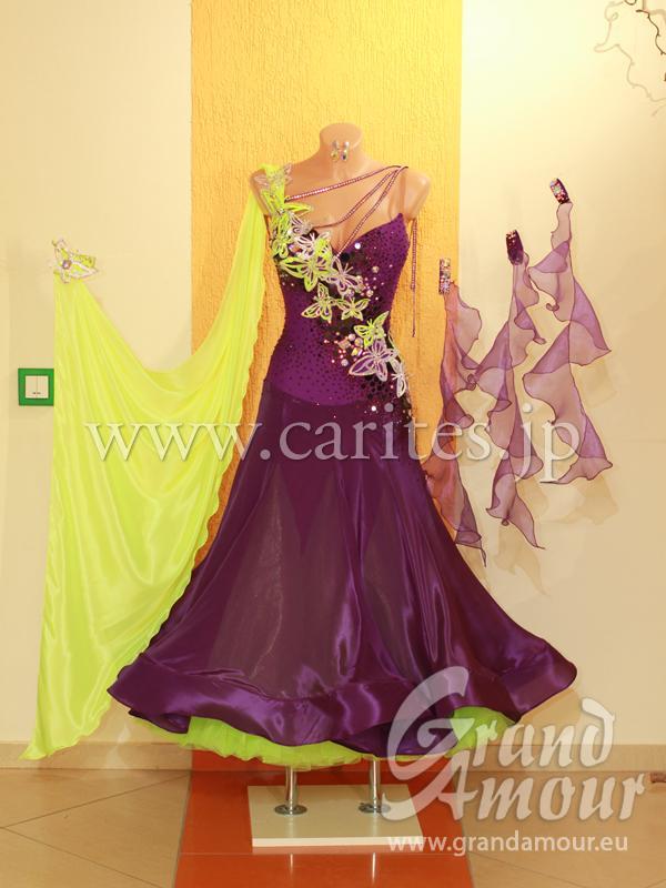 GA オーダードレス・紫&黄色