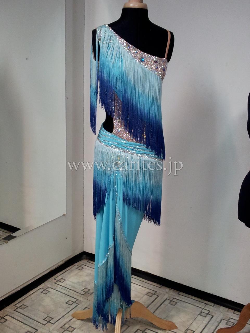CBMオーダードレス・水色グラデーション