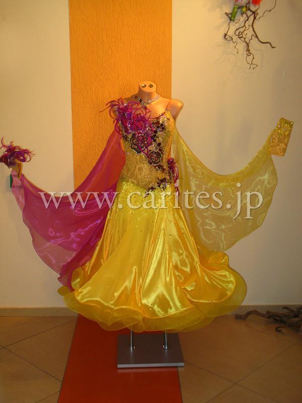 GA オーダードレス・黄色&紫
