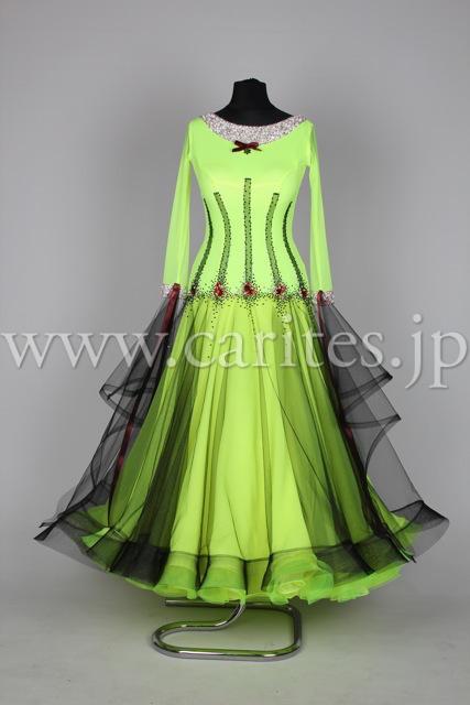 EMオーダードレス・黄緑&黒